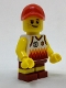 Minifig No: cty0770  Name: Beachgoer - Boy, Red Cap and Basketball Jersey