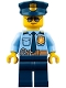 Minifig No: cty0778  Name: Police - City Officer Shirt with Dark Blue Tie and Gold Badge, Dark Tan Belt with Radio, Dark Blue Legs, Police Hat with Gold Badge, Sunglasses