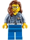 Minifig No: cty0809  Name: Coast Guard City - Female ATV Driver, Reddish Brown Female Hair over Shoulder