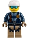 Minifig No: cty0853  Name: Mountain Police - Officer Male, Jacket with Harness