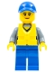 Minifig No: cty0862  Name: Coast Guard City - Female Crew Member, Blue Cap with Life Jacket