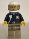 Minifig No: cty0868  Name: Mountain Police - Officer Male, White Helmet and Smirk