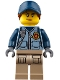 Minifig No: cty0869  Name: Mountain Police - Officer Female, Dark Blue Hat with Dark Orange Hair