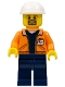 Minifig No: cty0875  Name: Miner - Equipment Operator with Beard