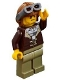 Minifig No: cty0879  Name: Mountain Police - Crook Male with Lined Jacket over Prisoner Shirt, Aviator Cap with Goggles