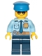 Minifig No: cty0888  Name: Police - City Officer Shirt with Dark Blue Tie and Gold Badge, Dark Tan Belt with Radio, Dark Blue Legs, Police Hat, Sunglasses