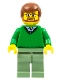 Minifig No: cty0893  Name: Green V-Neck Sweater, Sand Green Legs, Reddish Brown Hair, Beard