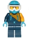 Minifig No: cty0904  Name: Arctic Snowmobile Driver