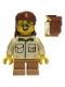 Minifig No: cty0915  Name: Camper, Male Child, Tan Shirt, Medium Dark Flesh Short Legs, Glasses, Backpack