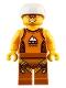 Minifig No: cty0917  Name: Rock Climber, Orange Tank Top, Dark Orange Legs with Clips, White Sports Helmet