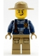 Minifig No: cty0946  Name: Mountain Police - Officer Male, Jacket with Harness, Dark Tan Hat