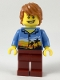 Minifig No: cty0948  Name: Plane Passenger, Dark Orange Hair, Hawaiian Shirt, Dark Red Legs