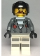 Minifig No: cty0994  Name: Sky Police - Jail Prisoner Jacket over Prison Stripes, Female, Black Helmet