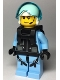 Minifig No: cty0995  Name: Sky Police - Jet Pilot with Neck Bracket (for Jetpack)