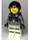 Minifig No: cty0999  Name: Sky Police - Jail Prisoner Jacket over Prison Stripes, Neck Bracket (for Parachute)