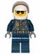 Minifig No: cty1001  Name: Police - City Pilot, Jacket with Dark Bluish Gray Vest, Dark Blue Legs, White Helmet, Sunglasses