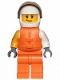 Minifig No: cty1002  Name: Jet Skier Female, 'VITA RUSH' Logo, Life Jacket