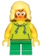 Minifig No: cty1014  Name: Girl, Lime Hoodie, Green Short Legs, Orange Cat Face Paint