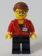 Minifig No: cty1045  Name: Reporter - Black Legs, Reddish Brown Hair Swept Back into Bun