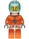 Minifig No: cty1059  Name: Astronaut - Male, Orange Spacesuit with Dark Bluish Gray Lines, Trans Light Blue Large Visor, Stubble