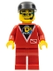 Minifig No: div009  Name: Divers - Control 2, Red Legs, Black Cap, Glasses and Headset