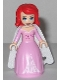 Minifig No: dp048  Name: Ariel - Bright Pink Dress with Magenta Stars, White Cape