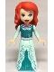 Minifig No: dp062  Name: Ariel - Light Aqua Dress with Silver Starfish and Shells