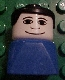 Minifig No: dupfig013  Name: Duplo 2 x 2 x 2 Figure Brick Early, Male on Blue Base, Black Hair, Wide Smile