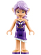 Minifig No: elf015  Name: Aira Windwhistler, Dark Purple