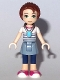Minifig No: elf034b  Name: Emily Jones, Sand Blue Skirt, Calf Length Leggings, Amulet