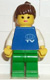 Minifig No: fre006  Name: TV Logo Small Pattern, Green Legs, Brown Ponytail Hair