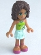 Minifig No: frnd024  Name: Friends Andrea, Light Aqua Layered Skirt, Lime Halter Neck Top