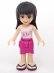 Minifig No: frnd046  Name: Friends Maya, Magenta Wrap Skirt, White Top