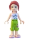 Minifig No: frnd059  Name: Friends Mia, Lime Cropped Trousers, Lavender Top