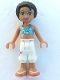Minifig No: frnd072  Name: Friends Joanna, White Cropped Trousers, Dark Azure Bikini Top