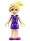 Minifig No: frnd096  Name: Friends Natasha, Dark Purple Skirt, Dark Purple Top with Comb