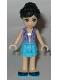 Minifig No: frnd178  Name: Friends Iva, Medium Azure Layered Skirt, Lavender Vest Top