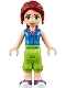 Minifig No: frnd236  Name: Friends Mia, Lime Cropped Trousers, Blue Top