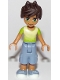 Minifig No: frnd275  Name: Friends Liam, Sand Blue Long Shorts, Lime and Yellow T-Shirt