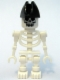 Minifig No: gen020  Name: Skeleton with Evil Skull, Bicorne Hat
