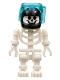 Minifig No: gen031  Name: Skeleton with Standard Skull, Black Aquaraiders II Helmet
