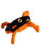 Minifig No: hf008  Name: Hero Factory Jumper 2 (Black Top / Orange Base)