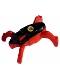 Minifig No: hf009  Name: Hero Factory Jumper 3 (Black Top / Red Base)