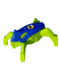 Minifig No: hf012  Name: Hero Factory Jumper 4 (Blue Top / Lime Base)