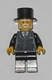 Minifig No: hol025  Name: Suit Black, Top Hat - Sleigh Driver