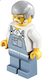 Minifig No: hol032  Name: Overalls Sand Blue, Sand Blue Legs, Light Bluish Gray Male Hair, White Beard