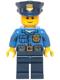 Minifig No: hol040  Name: Police - Gold Badge, Police Hat, Black Eyebrows, Smile