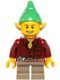 Minifig No: hol050  Name: Elf - Dark Red Flannel Shirt