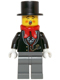 Minifig No: hol064  Name: Caroler, Male - Tuxedo Shirt and Gold Watch Fob