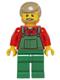 Minifig No: hol067  Name: Overalls Farmer Green, Dark Tan Hair and Beard